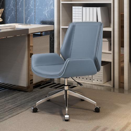 電腦椅家用辦公椅舒適久坐簡約靠背椅書房老闆椅人體工學轉椅皮椅