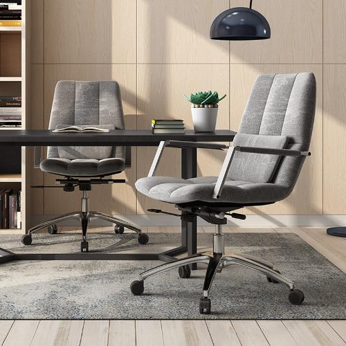 電腦椅家用休閒懶人主播升降轉椅書房椅子電腦椅布藝老闆椅辦公椅