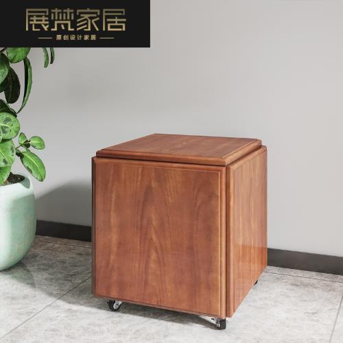 實木魔方凳居家用客廳組合凳子戶外鐵藝網紅多功能換鞋椅子矮凳