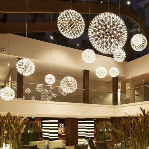 星火球服裝商場餐廳酒店樓盤滿天星裝飾照明火花球吊燈