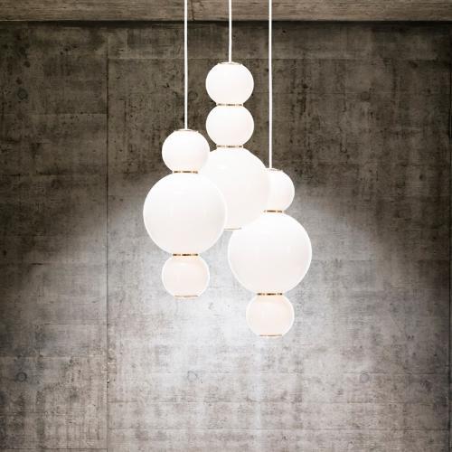 北歐創意個性串珠旋轉樓梯吊燈現代簡約別墅客廳餐廳牀頭玻璃吊燈