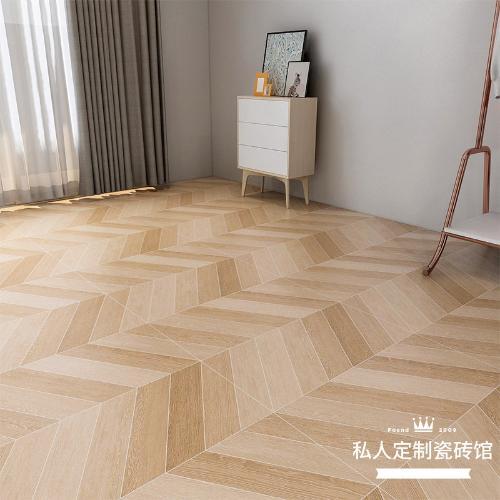 網紅凹凸型魚骨木紋磚客廳餐廳臥室防滑地磚仿實木地板磚600x600