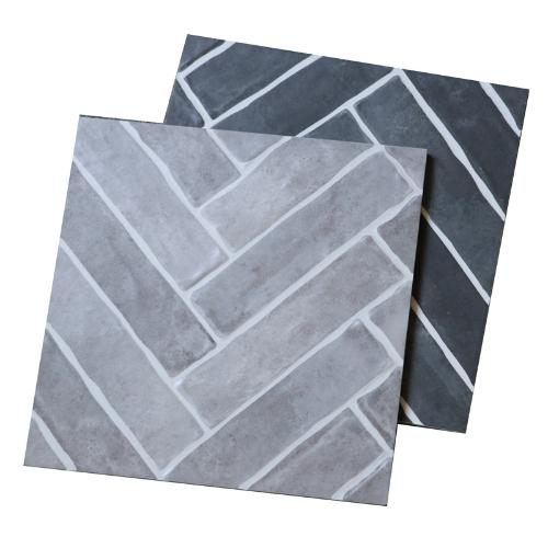 魚骨紋灰色防滑瓷磚300x300仿古磚客廳臥室地板磚廚房廁所內牆磚