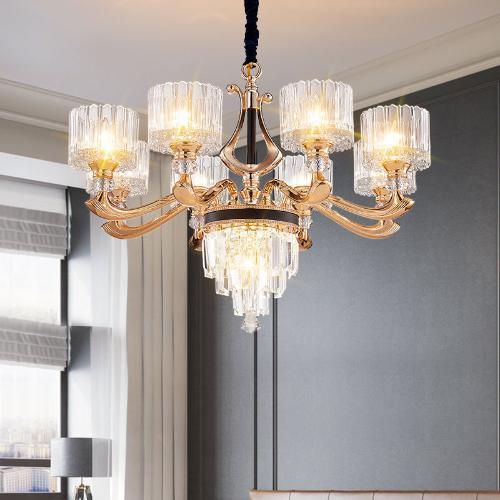 輕奢客廳吊燈北歐簡約餐廳臥室燈後現代水晶創意大氣藝術燈具燈飾