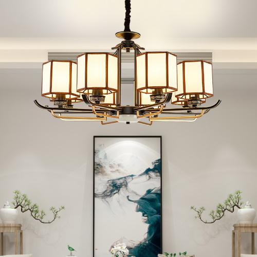 華藝照明 新中式吊燈客廳燈時尚新款中國風簡約現代復古燈具Z