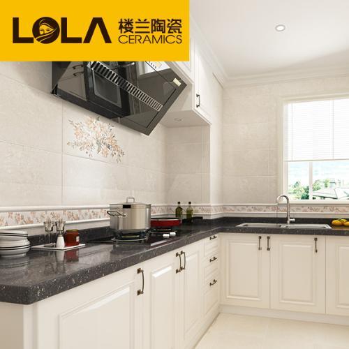 樓蘭瓷磚 仿古磚300*600花片廚房衛生間牆磚內牆磚復古 欗桂米黃