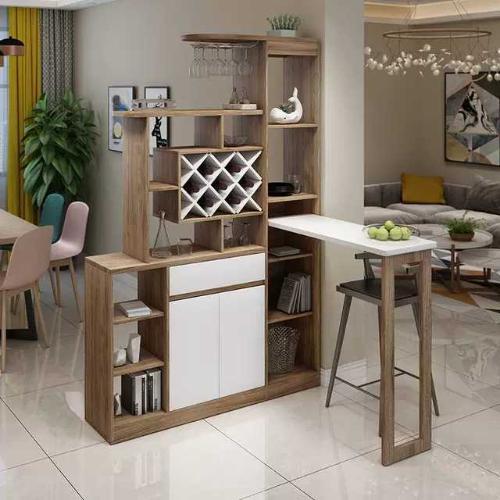 現代簡約間廳櫃開放式廚房屏風隔斷客廳玄關餐廳吧檯酒櫃