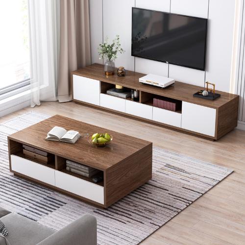 電視櫃茶几組合桌簡約現代小戶型客廳簡易牆櫃北歐經濟型電視機櫃