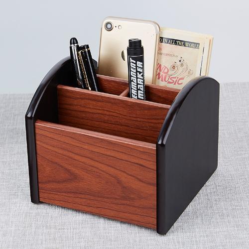 匯星品牌創意可旋轉木質收納筆筒 木製桌面遙控器收納 可訂製筆桶