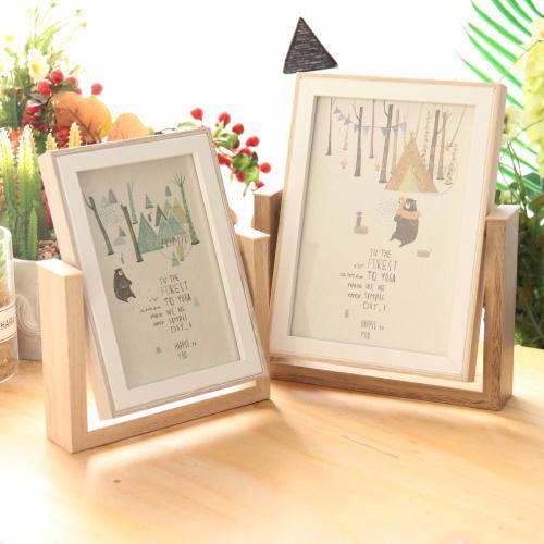 創意相框擺臺雙面加洗沖印做成照片定製來圖六寸七寸diy